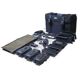 Kit 3 paneles LED Cineroid flexibles FL800S3S bicolor 2700K-6500K