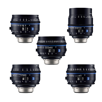 Kit 5 Objetivos Canon Zeiss Compact Prime CP.3: 18mm, 35mm, 50mm, 85mm, 135mm