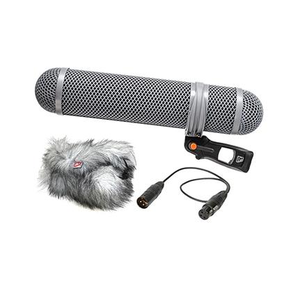 """Compatibilidad Para micrófonos de 0.75 - 0.98 """"(19 - 25 mm) de diámetro Para micrófonos de hasta 9.84 - 11.81"""" (25-30 cm) de longitud Longitud 13.78 """"(350 mm), cuerpo 15.75"""" (400 mm), en general Diámetro máximo 3.9 """"(100 mm) Peso 24.48 oz (694 g), incluye suspensión, empuñadura de pistola, cable XLR, parabrisas y windjammer"""