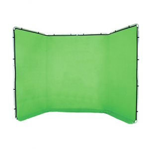 Fondo Lastolite panorámico Chromakey verde 4x2,35m