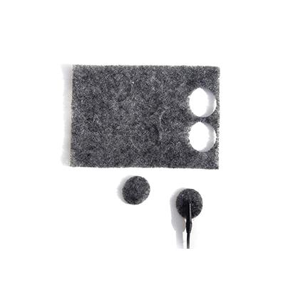 Adhesivos solapa Rycote gris