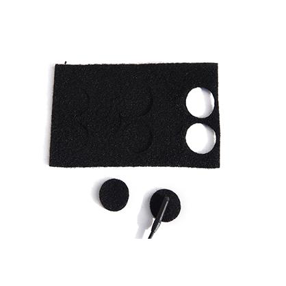 Adhesivos solapa Rycote negro