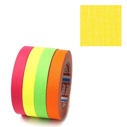 Cinta fluorescente Amarilla Tesa 2.5cm x 25m