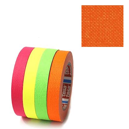 Cinta fluorescente Naranja Tesa 2.5cm x 25m