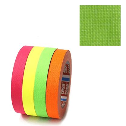 Cinta fluorescente Verde Tesa 2.5cm x 25m