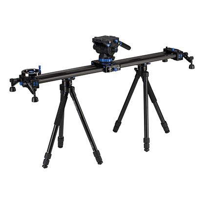 Kit Slider Berno MoveOver 12 0.9m + Rótula S8 + 2 Trípodes Travel Flat