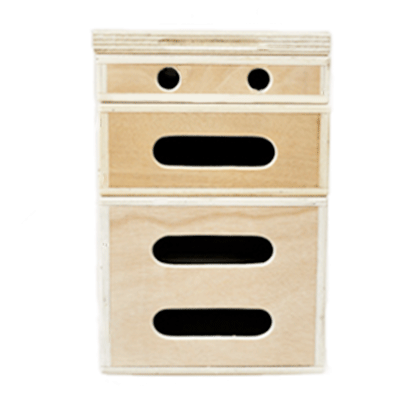 Pack 4 cajones de madera