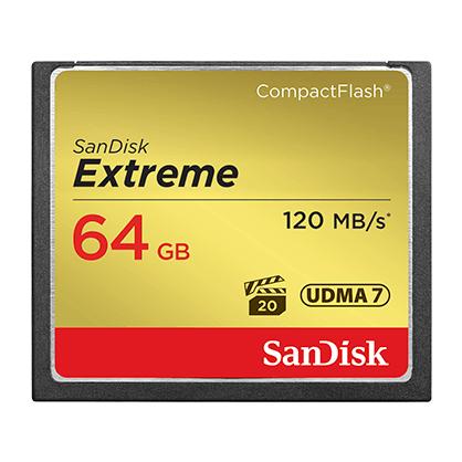 Tarjeta Compact Flash SanDisk 64GB 120MB/S